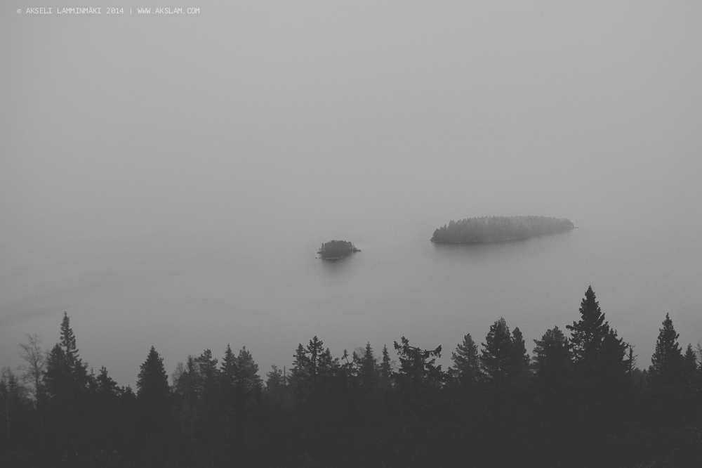 Islands in the fog, Koli National Park