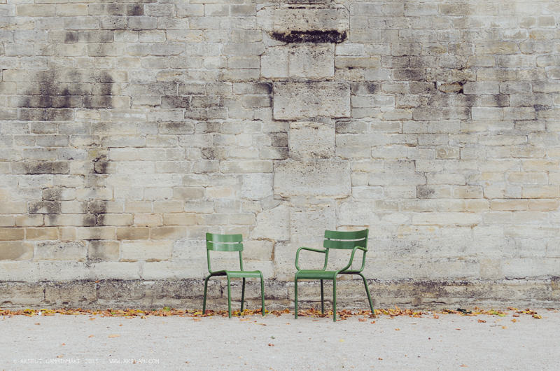 Empty chairs and alleyways, Paris